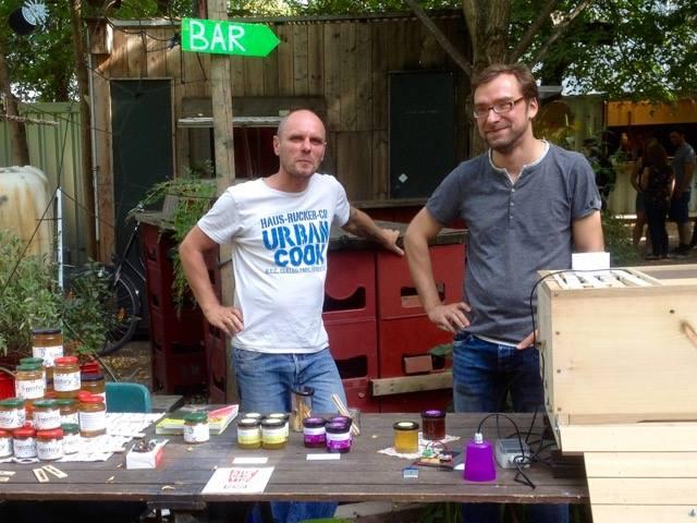 Karsten and Clemens at the Stadthonigfest 2016 in Berlin